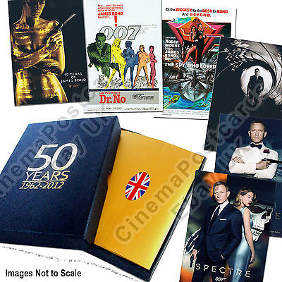 007 James Bond 50 Years Dr NO-Skyfall 24 Post Cards+2 SPECTRE Promo Gift Box Set