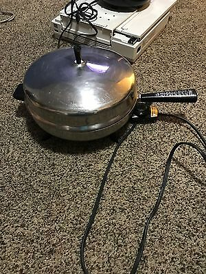 """Vtg Farberware 12"""" Electric Skillet Fry Pan 310-A Dome Lid PERFECT HEAT Control"""