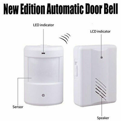 Wireless Motion Activated Door Alert Entry Alarm Chime Driveway