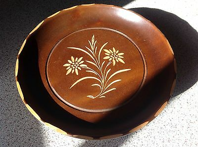 Swiss  Music Box Turning Top Plays Edelweiss.Quality Wooden Item From 1970s