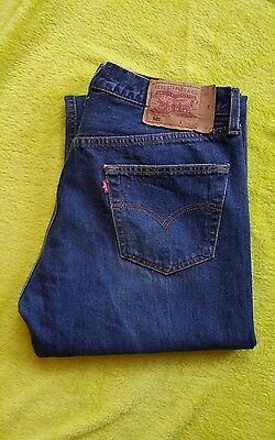 Levi Strauss 501 excelentes jeans azules oscuro W36 L32 (21)