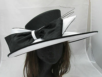 Silk Special Wedding Occasion Mother of Bride/Groom Ascot Derby Races Church Hat