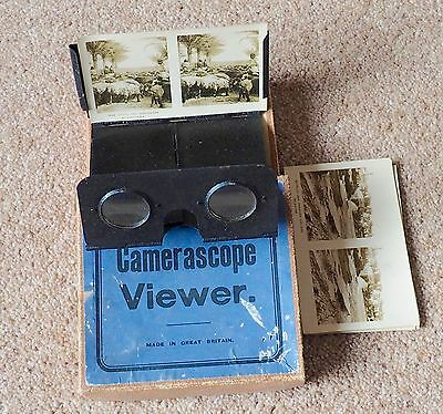 Vintage  Camerascope Stereoscopic Viewer with 5 cards