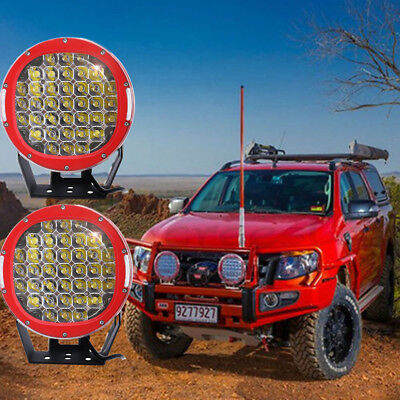"2X 10"" Round 225W Cree Led Driving Work Light Red Spot Offroad ATV 4WD SUV"