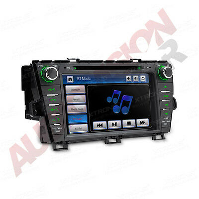 "8"" In Dash Car Sat Nav GPS CD DVD Player Stereo Radio for Toyota Prius 2009-2013"