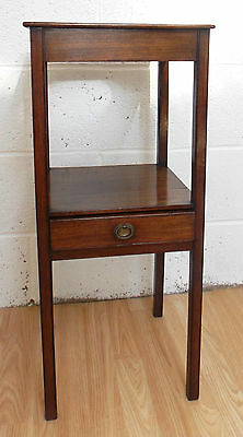 Georgian Mahogany Wash Stand Occasional Table Plant Stand  Reduced