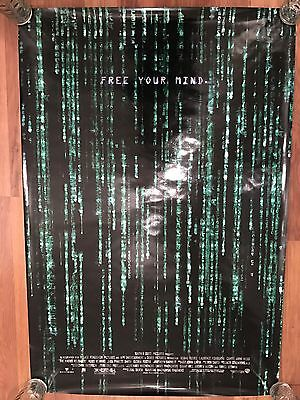 RARE MATRIX 3D AUTHENTIC ADVANCE Holofoil US One Sheet Credits 300 Made POSTER