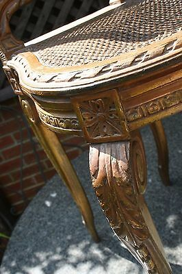 A Lovely and Original 19th C. (possibly French?) Bergerre and Gilded Music Chair