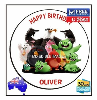 The Angry Birds Edible Icing  Image Cake Birthday Party Topper Personalised