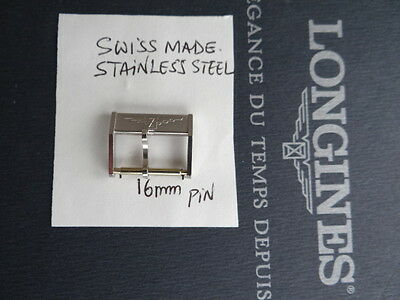 Vintage Nos Genuine Unroc Longines Stainless Steel Buckle 18Mm, Pin Size 16M
