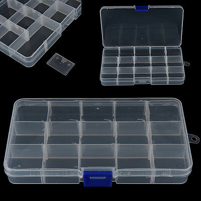 15 Compartments Fishing Fish Hook Bait Lure Box Tackle Storage Container Case