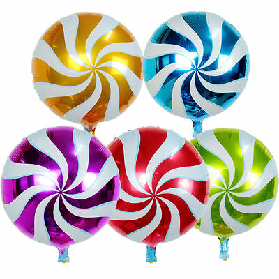Pack of 10 - 18'' Foil Round Candy Lollipop Balloons - Birthday Party Decoration