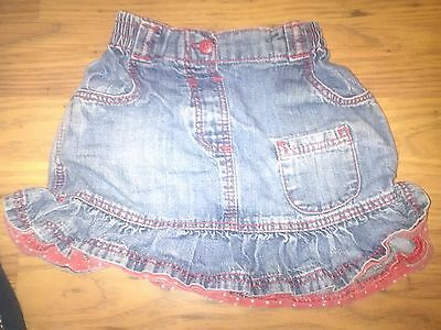 girls denim skirt 12 - 18 months George brand
