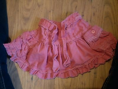 girls pink cord skirt 9 - 12 months marks and spencer