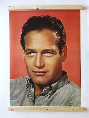 Paul Newman Poster Large Vintage 1970's Italian Issue 566 Was Unopened