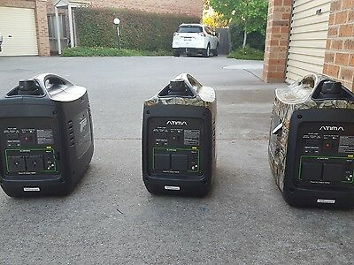 Like new, 3 Inverter generators. Cable for parallel INCLUDED 6KVA, SD2000i