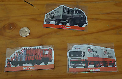 3x TNT Fridge Magnets 70 Years Lorry Truck Limited Edition