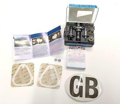 Bulb Kit and GB Sticker with Headlamp Beam Deflector Euro Universal Head Light