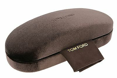 Tom Ford Glasses Case + Lense Cloth Spectacles RX Frames Eyeglass Brown New