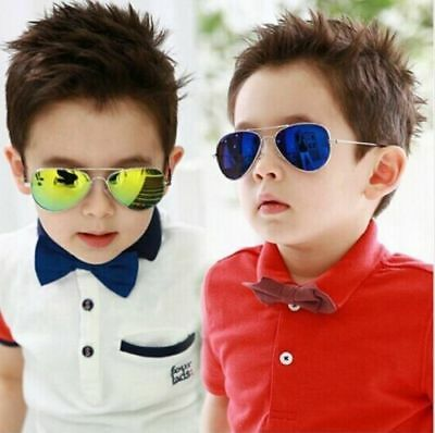 Kids Sunglasses Pilot Style Children Sun Glasses UV Protection Goggles TKBC030
