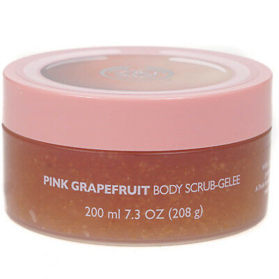 The Body Shop Pink Grapefruit Body Scrub Gel 200ml With Free Exfoliating Gloves