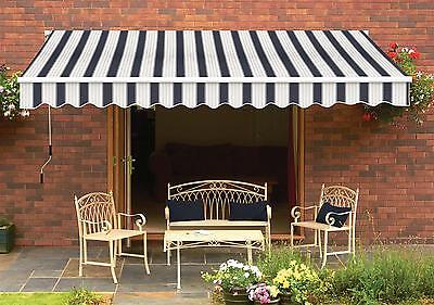 Wall mounted, Manual Retractable Awning - 3 Sizes, 5 Colours - B Grade