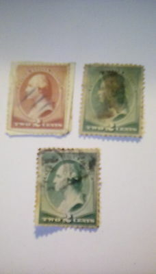 United States Postage stamps Early Washingtons 1883