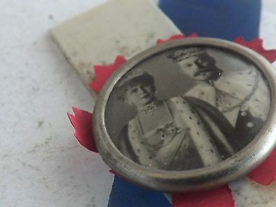 a fineantiqueking george vth and mary photo pin badge