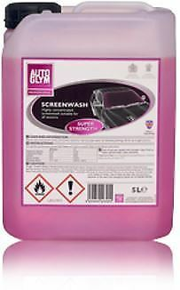 Genuine Autoglym Screen Wash Super Strength Quick Clear All Seasons 5 Litre