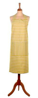 Seasalt Studio Apron Breton Peel - Yellow Stripes - by Ulster Weavers
