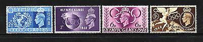 "GB Stamps KGVI 1948 ""Olympic Games"" sg495-498 - U/M"