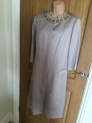 Stunning blush wedding outfit - dress and coat size 12/14