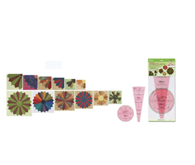 NEW Clover Trace n Create Quilt Templates   Dresden Plate & Fan   FREE POST