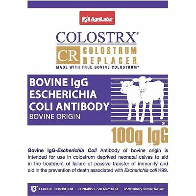 Colostrx CR Colostrum Replacer Cow Bovine 100g IGG  500 Gm Package