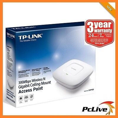 TP-Link EAP120 300Mbps Wireless N Gigabit Ceiling Mount Access Point WIFI
