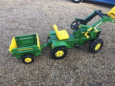 Rolly Toys John Deere 6920 Pedal Tractor with front loader and trailer