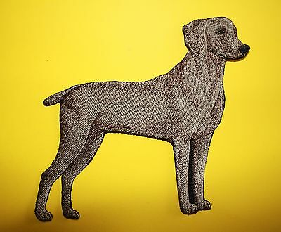 "Weimaraner Dog Embroidered Patch Approx Size 6""x5.5"""