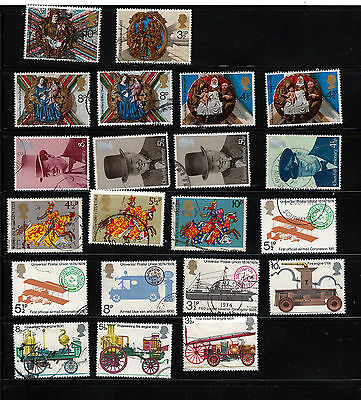 GB 1974 used commemoratives as scan. (ref 1974b)