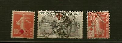 timbres FRANCE n° 146,147,156
