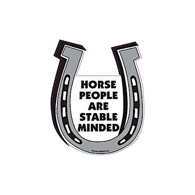 Horse People Are Stable Minded Horse Horseshoe Car Magnet