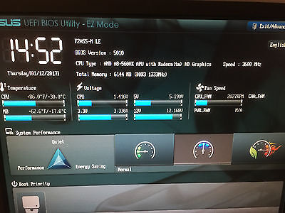 ASUS F2A55-M LE Motherboard + AMD A8-5600K 3.6GHz CPU + 4GB MEMORY I/O Shield