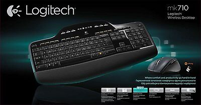 Logitech Wireless Desktop MK710 Ensemble Clavier AZERTY + Souris sans fil