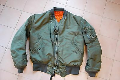 alpha industries bomber MA1 made in USA vert kaki taille M