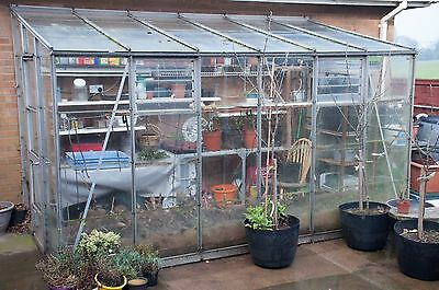 "Aluminium Lean-to Greenhouse 12' 4"" x 6' 4"""