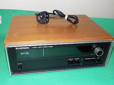 AUDIOTRONIC FM AM Stereo Tuner Model LT-1700 Hi-Fi separate Radio Wooden Case