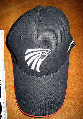 EGYPTAIR EGYPT AIR CAP - BLACK AND WHITE WITH RED TRIM - NEVER WORN h1o7wxtu