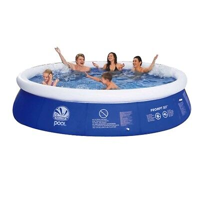 10Feet Premium Quality Round Inflatable Prompt Paddling Pool Family Summer Fun