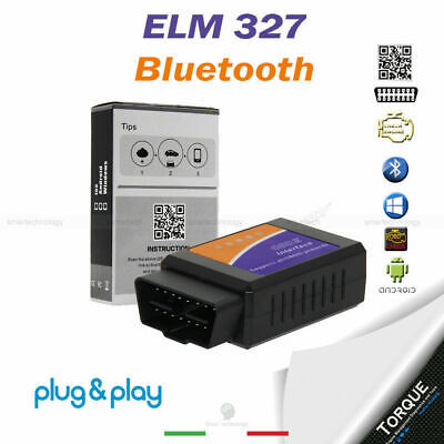 Mini Elm327 Obd2 2.1 Per Diagnosi Auto Interfaccia Bluetooth Android Diagnostica