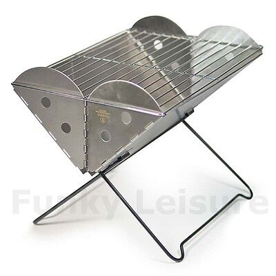 UCO Grilliput Flat Pack Barbeque - Stainless Steel Portable BBQ