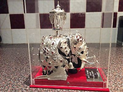 Silver Plated Decorated Elephant from Sri Lanka